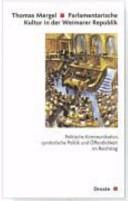 Parlamentarische Kultur in der Weimarer Republik
