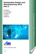 Sustainable Design and Manufacturing 2014 Part 2 Book