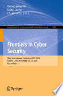 Frontiers in Cyber Security Book