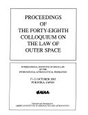 Proceedings of the Forty Eighth Colloquium on the Law of Outer Space