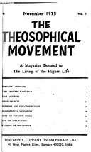 The Theosophical Movement Book