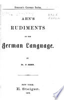 Ahn's rudiments of the German language, Rudiments of the German language