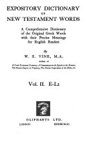 Expository Dictionary of New Testament Words Book