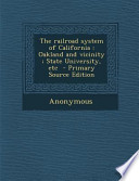 The Railroad System of California