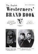 The English Westerners' Brand Book