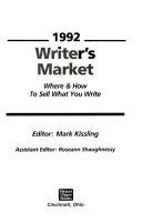 Writer S Market 1992 Book