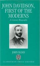 Pdf John Davidson, First of the Moderns