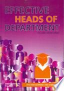 Effective Heads of Department