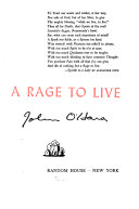 A Rage to Live
