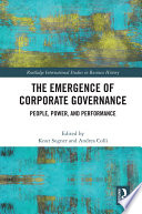 The Emergence of Corporate Governance