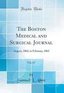 The Boston Medical And Surgical Journal Vol 67