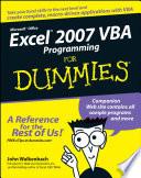 Excel 2007 Vba Programming For Dummies Book