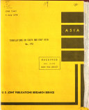 Translations on South and East Asia