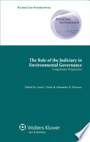 The Role of the Judiciary in Environmental Governance