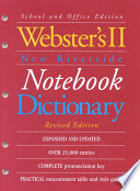 Webster's II