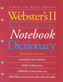 Webster s II