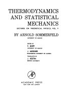 Lectures on Theoretical Physics  Thermodynamics and statistical mechanics