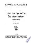 Das europäische Staatensystem, 1848-1890