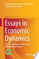 Essays in Economic Dynamics Book