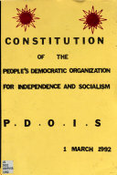 Constitution of the People s Democratic Organization for Independence and Socialism
