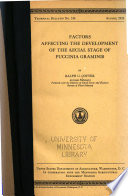 Factors Affecting the Development of the Aecial Stage of Puccinia Graminis Pdf/ePub eBook