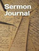 Sermon Journal  Book of Joshua Themed Sermon Journal 8 5 X 11 100 Pages