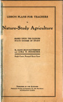 Lesson Plans for Teachers in Nature study Agriculture Book