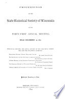 Proceedings of the Society at Its 34th  Annual Meeting