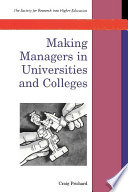 Making Managers In Universities And Colleges