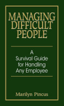 Managing Difficult People [Pdf/ePub] eBook