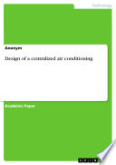Design of a centralized air conditioning