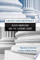 Legacy and Legitimacy Book