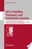 Hci In Mobility Transport And Automotive Systems Book PDF