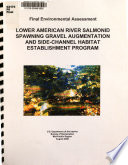 Lower American River Salmonid Spawning Gravel Augmentation and Side channel Habitat Establishment Program