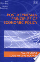 Post Keynesian Principles of Economic Policy