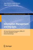 Information Management and Big Data [Pdf/ePub] eBook