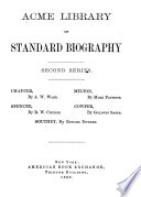 Acme Library of Standard Biography Book