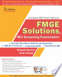 FMGE SOLUTIONS MCI SCREENING EXAMINATION  A COMPLETE NBE CENTRIC APPROACH