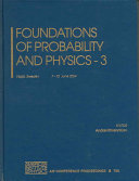 Foundations of Probability and Physics   3 Book