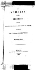 An Address to the Electors