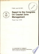 Report to the Congress on Coastal Zone Management