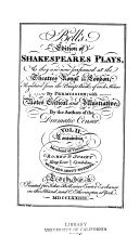 Bell s Edition of Shakespeare s Plays  1774 Book PDF