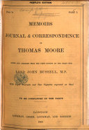 Memoirs  Journal and Correspondence  Edited and abridged from the first edition by     Lord John Russell
