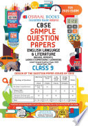 Read Online Oswaal CBSE Sample Question Paper Class 9 English Language and Literature (For March 2020 Exam) For Free