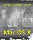 Mac Os X Maximum Security Book PDF
