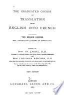 The Graduated Course Of Translation From English Into French Senior Course 1887