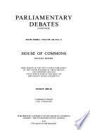 Parliamentary Debates (Hansard)