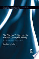 The Educated Subject and the German Concept of Bildung Pdf/ePub eBook