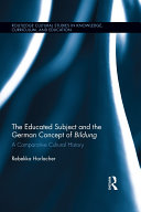 The Educated Subject and the German Concept of Bildung [Pdf/ePub] eBook