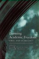 Pursuing Academic Freedom